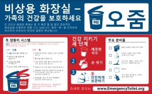Image of PEE/POO Twin Bucket System Stickers in Korean