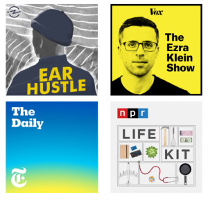 Our fave podcasts graphic