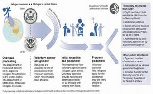 Refugee resettlement flowchart