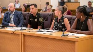 Sheriff Reese, in August 2019, speaking before Multnomah County Board of Commissioners.
