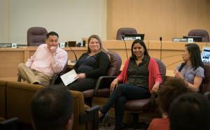 Multnomah County staff Shukhrat Arifdjanov, Anna Hathorne, Cristabel Nichols and Wendy Lin-Kelly.