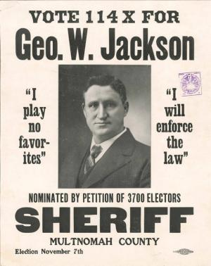 Geo. W. Jackson election flyer
