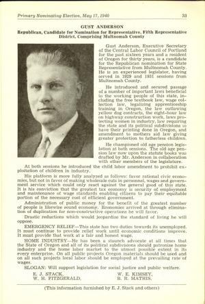 1940 Voters Phamplet