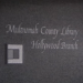 Screenshot of Hollywood library sign at former location